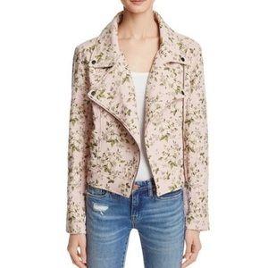 BLANKNYC Pink Floral Embroidered Moto Jacket
